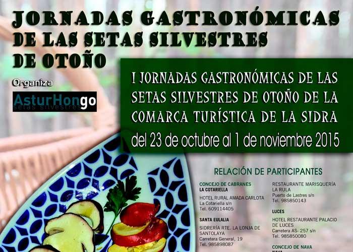 Primeras jornadas gastronómicas de las setas silvestres de la Comarca de la Sidra