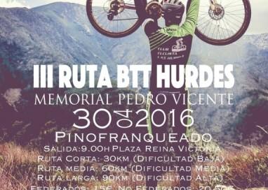 "III Ruta Cicloturista ""BTT Hurdes- Memorial Pedro Vicente"""