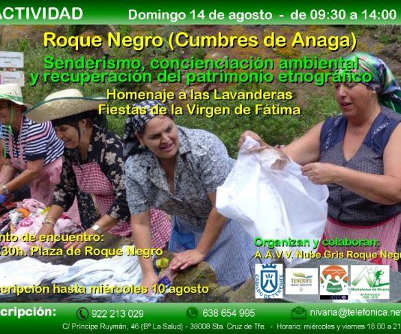 Senderismo y concienciación en el homenaje a las lavanderas de Anaga