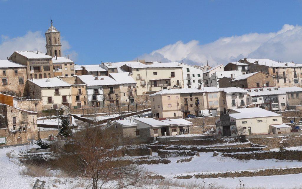 Problemas por la fuerte nevada en Mosqueruela