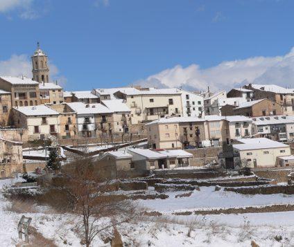 Problemas por la fuerte nevada en Mosqueruela - pueblos