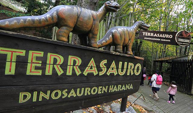 Terrasaurio, Dinosaurios en Karpin Abentura, Carranza, Vizcaya